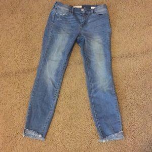 Pacsun Skinny Cutoff Jeans